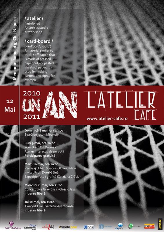 Afis Aniversare L'Atelier Cafe