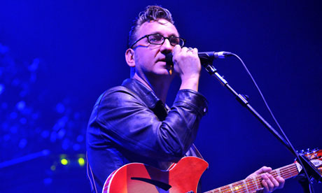 Richard Hawley on stage in Brixton.