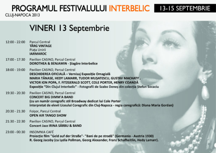 program Festival Interbelic vineri