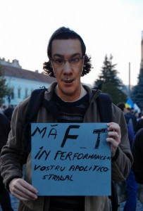 Victor Ponta  protest anti RMGC 2
