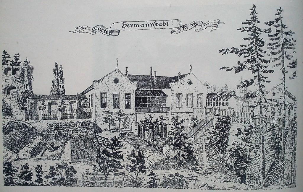 fig 26 Sibiu desen după gravură înc sec XVIII