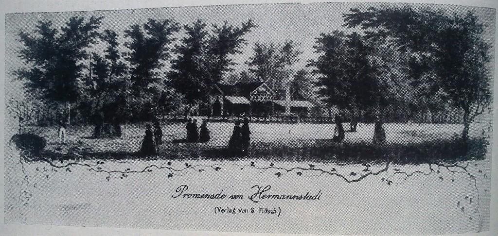 fig 27 sibiu promenadă gravură 1858
