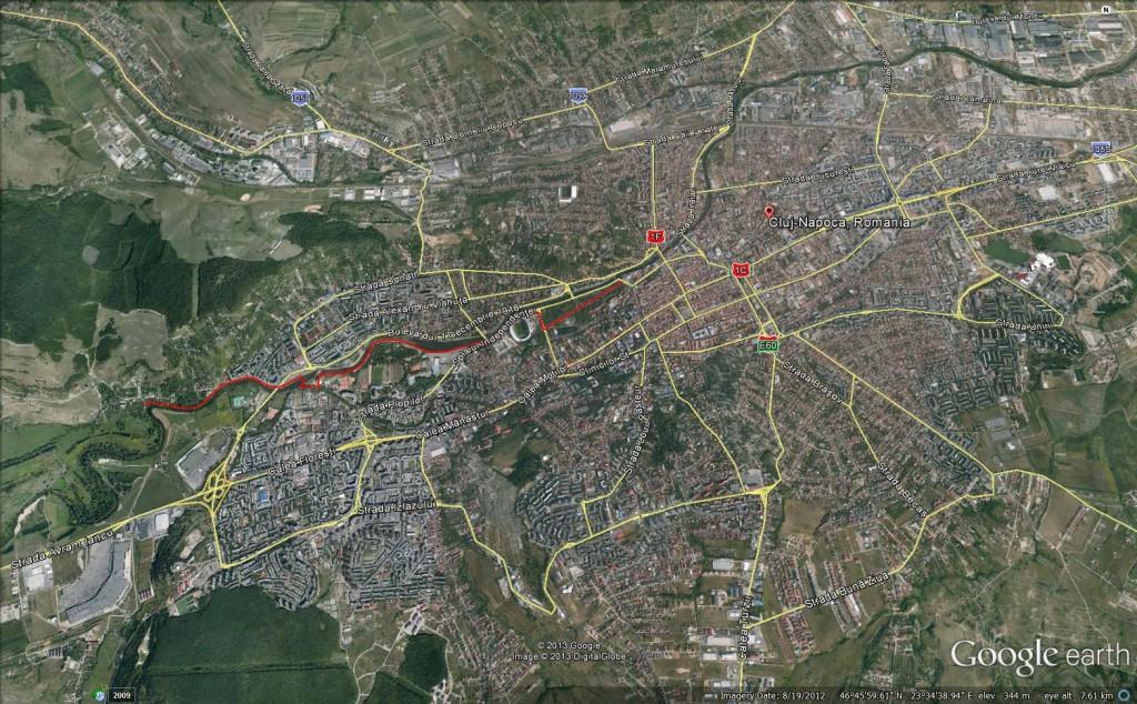 Harta Cluj Napoca Pietonala Somes