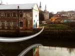 Pod-parabolă peste Someș la Casa Tranzit