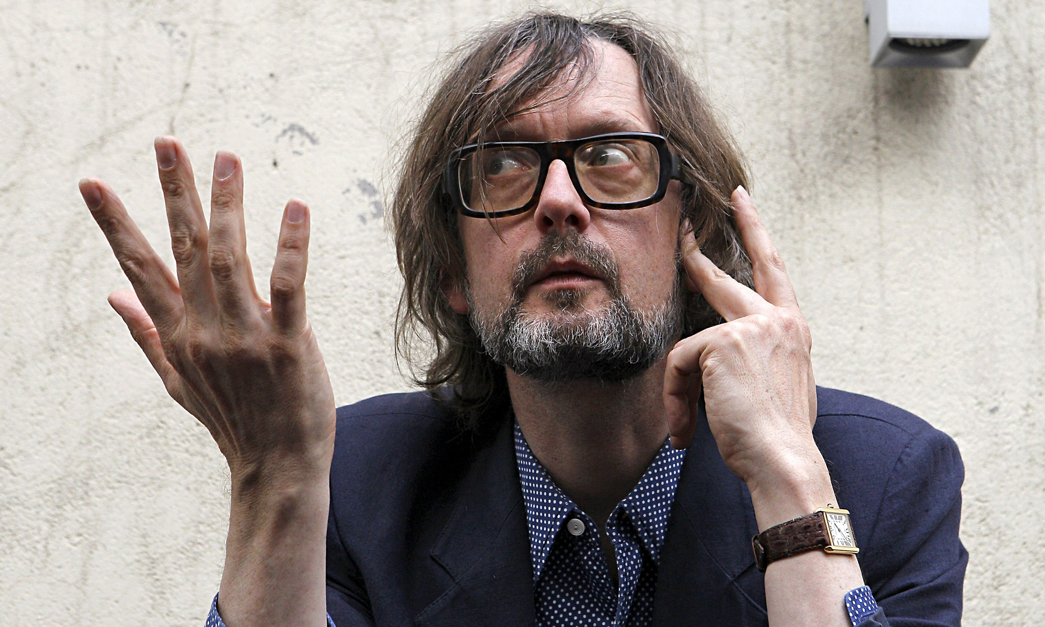 Jarvis Cocker photoshoot in Madrid, Spain - 28 Jun 2012
