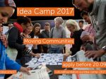 Call for ideas: Idea Camp 2017 – Comunități mobile